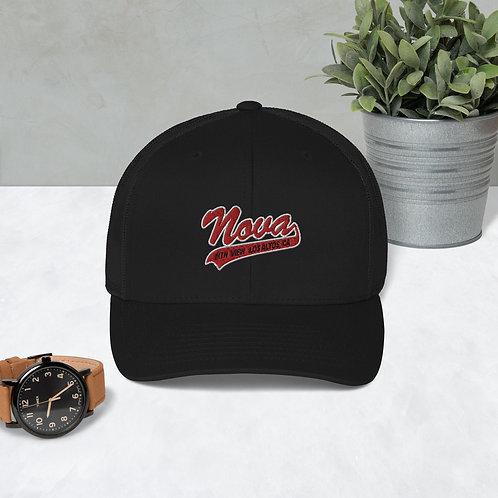 Red Script Nova Trucker Cap