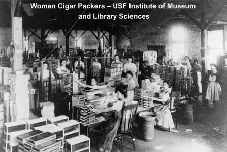 Women also worked at the cigar factories.