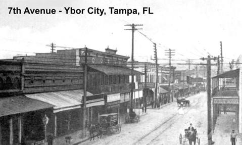7th Avenue in Ybor City - Tampa, Florida