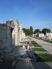 L'Unione Italiana Cemetery - elaborate crypts and beautiful monuments.