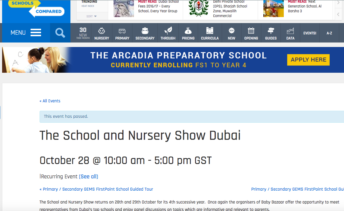 Schools Compared blog