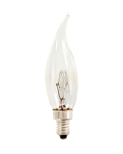 E10 - Clear French Flamme Lamp - 110v - 25 Pack
