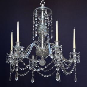 6649 - Cut Glass Chandelier