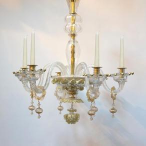 H6724ca - Venetian Chandelier with gilt highlights.