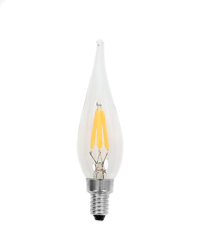 E10 - LED Filament French Candle Lamp - 25 Pack