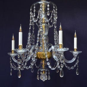 6842 - Late 18th Century Glass Chandelier