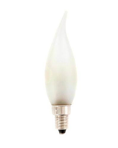 E10 - Satin Matt French Flamme Lamp - 110v - 25 Pack
