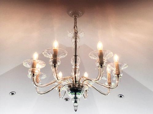 Venetian Clear Crystal Chandelier.