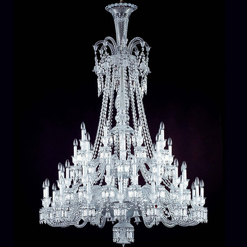 French Style Clear Crystal Chandelier, 48 Lights.