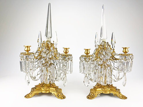Magnificent Pair of Louis XVI Style Three-Light Candelabra, French, circa 1870