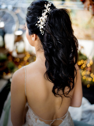 Bridal hair with accessories