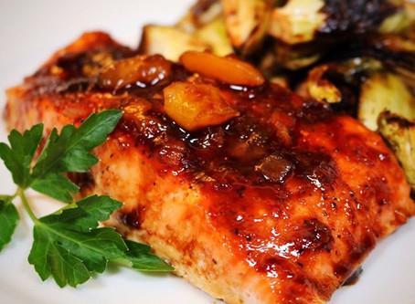 Baked Salmon with a Mango Chutney & Balsamic Glaze