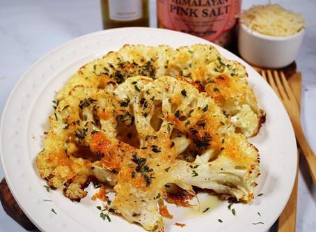 Truffle Parmesan #Cauliflower Steaks🧀🥦