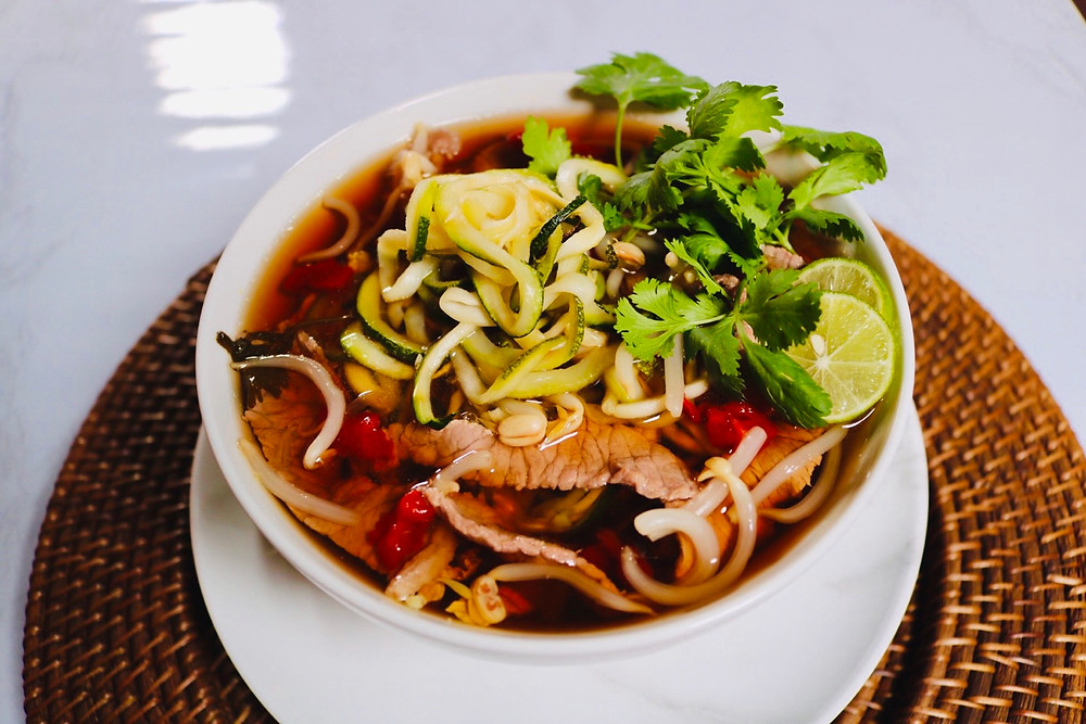 Low Carb Keto Bone Broth Beef Pho Bowl Fertility Foods