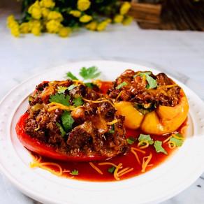 Enchilada Stuffed Peppers 🌶️
