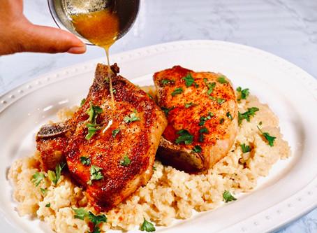 🥩Air-fryer Pork Chops with Brown Butter