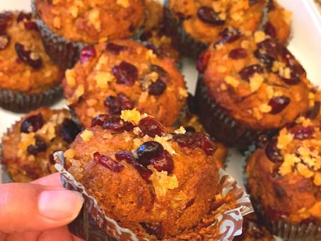 Orange Cranberry Ginger Muffins
