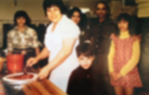 The Tudda family at the original Stromboli Inn pizza place in Kensington, Calgary, AB in the 70s