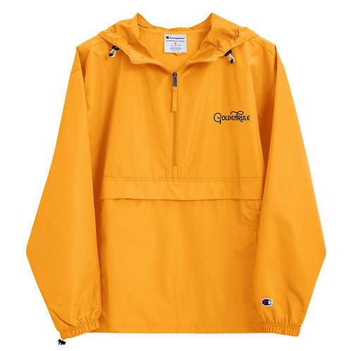 Golden Rule | Embroidered Champion Packable Jacket