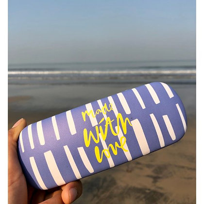 Sunglasses Case - Made With Love - Purple
