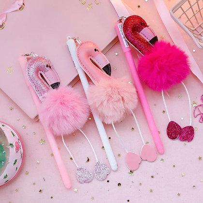 Flamingo Pens - Glitter Pink