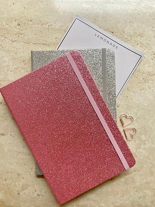 Notebook - Gliterati With Elastic Band - Pink