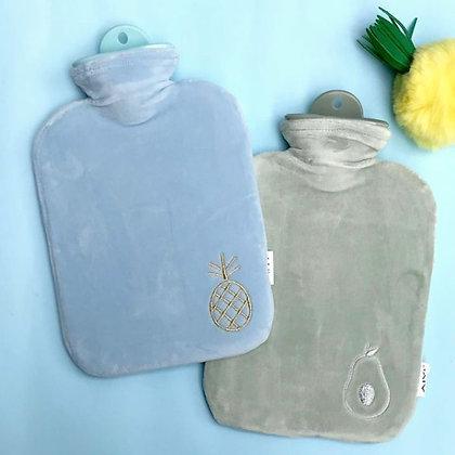 Velvet Hot Water Bags - Blue