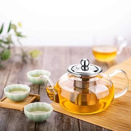 Heat Resistant Glass Tea Pot