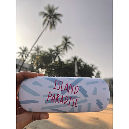 Sunglasses Case - Island Paradise - Blue and White