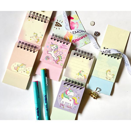 Mini Pocket Notepad - Dreamy Unicorn - Pink