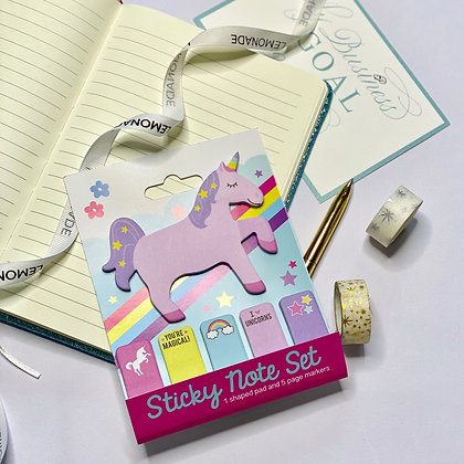 Bookmark Unicorn Post It Notes Set