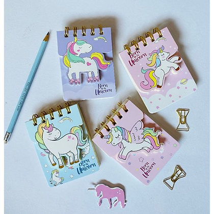 Dual Pocket Notepad - Dreamy Unicorn - Pink