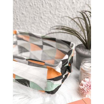 Foldable Canvas Basket - Aztec - Orange