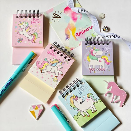 Mini Pocket Notepad - Dreamy Unicorn - Purple