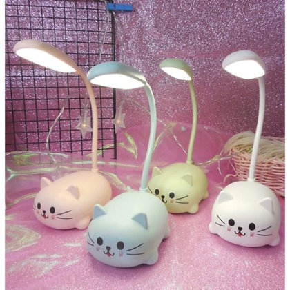Cute Table Lamp with USB cable - Blue