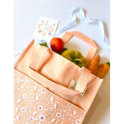 Canvas Floral Bag - Orange