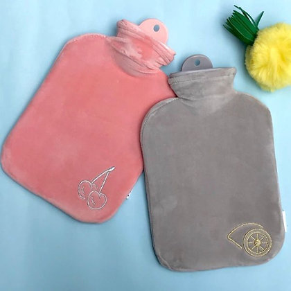 Velvet Hot Water Bags - Grey