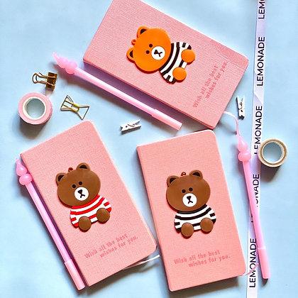 Compact Notebook - Teddy Bear