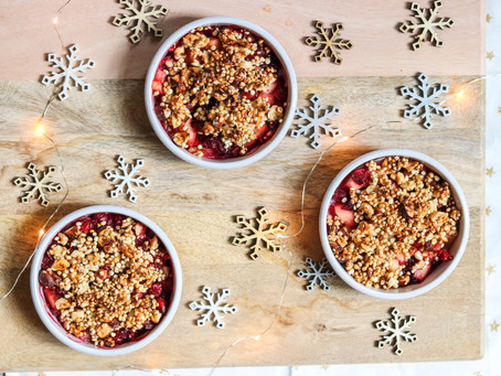 A Special Christmas Cranberry Hazelnut & Quinoa Crumble Everyone Will Love