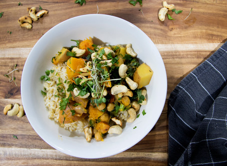Simple Potato And Pumpkin Coconut Red Curry For An Easy Weeknight Dinner