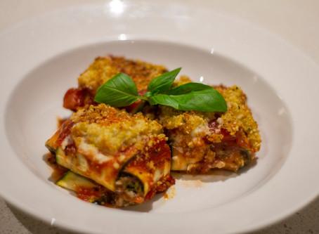 Spinach and 'Ricotta' Zucchini Ravioli