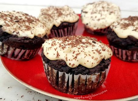 Healthy Black Bean Chocolate Fudge Cupcakes