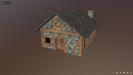 3D model of a medieval house