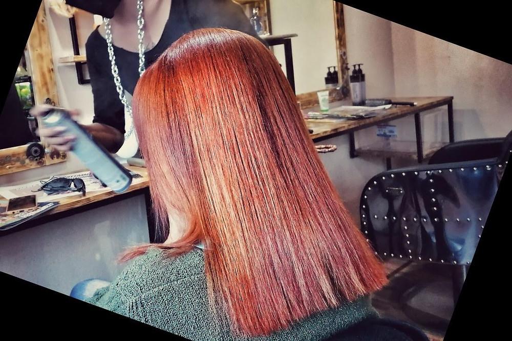 Pumpink Spice Hair