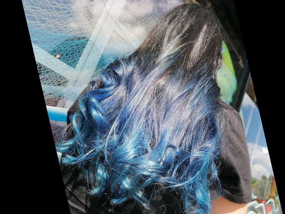 Blu zaffiro hair color sfumato