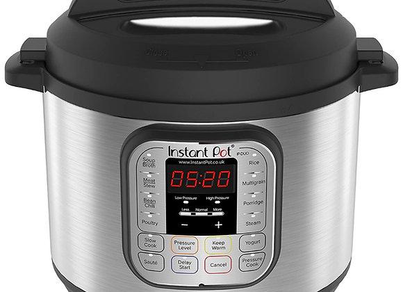 Instant Pot Duo 7-in-1 Electric Pressure Cooker, 6 Qt, 5.7 Litre, 1000 W, Brushe