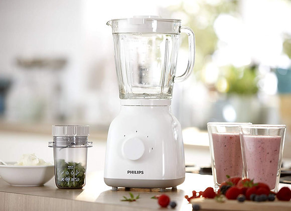 Philips HR2106/01 Daily Collection Glass Jug Blender with Chopper