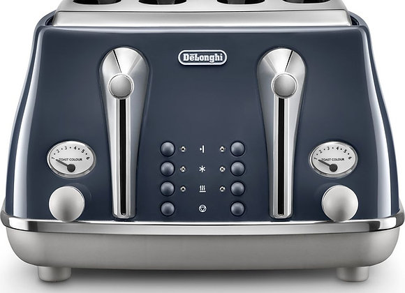 DELONGHI Icona Capitals CTOC4003.BL 4-Slice Toaster - Blue
