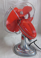 1955 oscillating fan. Renovated. Good for Man Caves