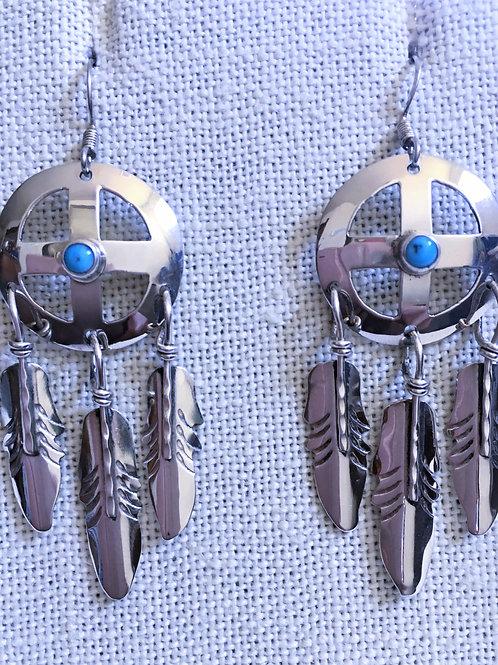 Cut-out cross earrings